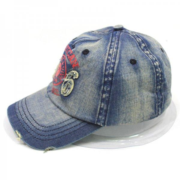 3916cfda8c2 Denim distressed cap custom